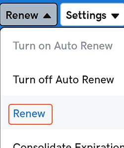 select renew