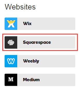 Click on Squarespace