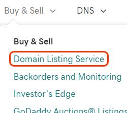 opcja usługi listy domen z menu