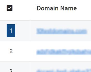 selecionar o nome de domínio