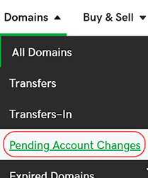 view pending account changes