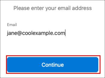 Geben Sie Ihre E-Mail-Adresse ein
