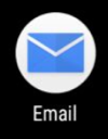 Tap the Email app icon
