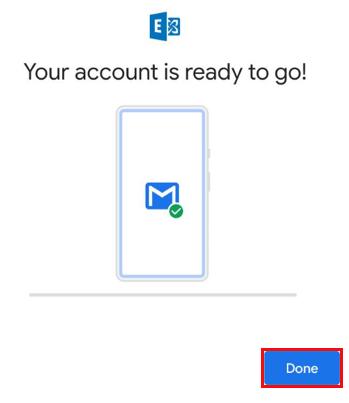 Toque em adicionar conta