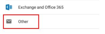 Pilih opsi Lainnya pada layar Atur akun