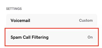 tap spam filtering