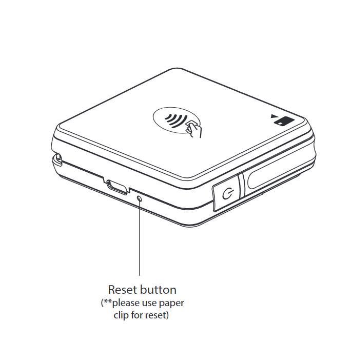 Card reader reset button