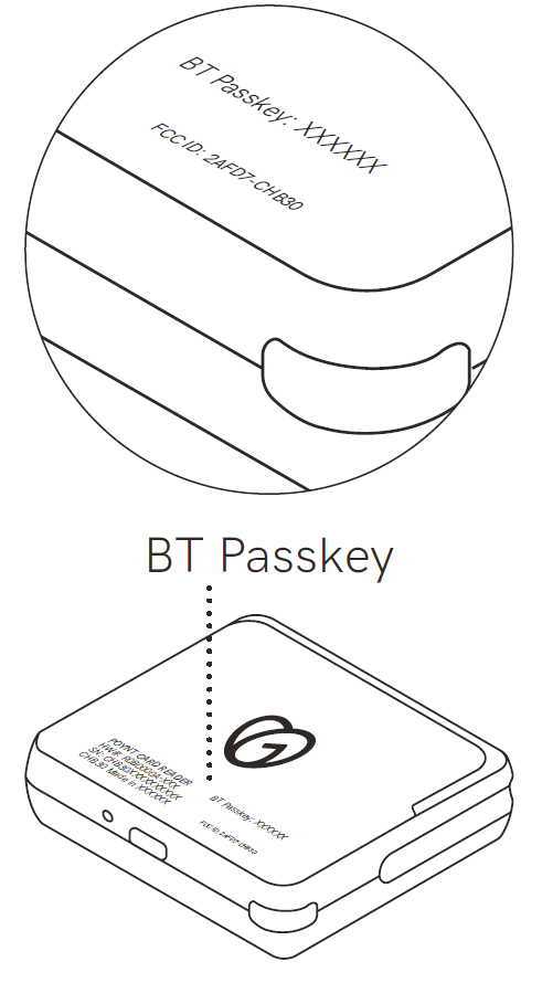 BT Passkey placement on the device