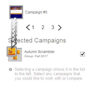 arrastra la imagen en miniatura de la campaña a la parte superior del grupo
