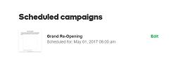 geplante Kampagnen