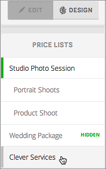Click in right column to jump to menu/price list.