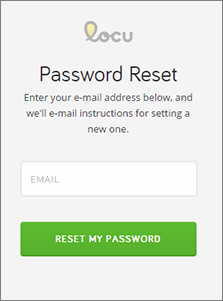 Enter your email and click Reset My Password