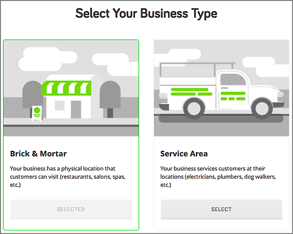 Select Your Business Type