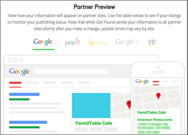 The Sites tab's Partner Preview section