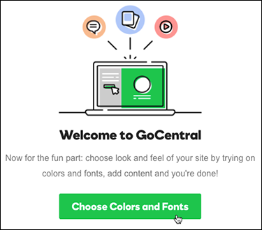 Click choose colors and fonts