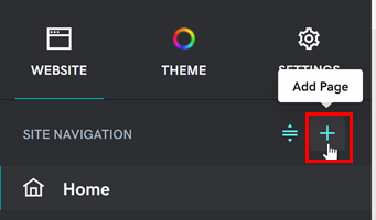 Screenshot of the section group menu