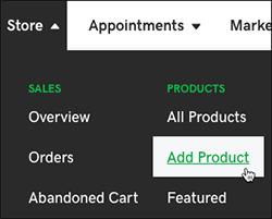 """选择""""添加产品"""""""