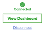 Click View Dashboard or Disconnect