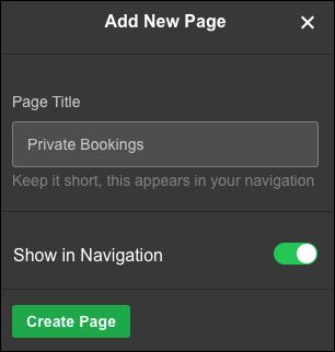 名前を入力し、「ページを作成」をクリックします