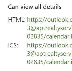 Adres URL ICS