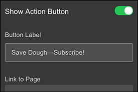 Type in button label