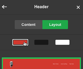 Transparent image lets Header background color show