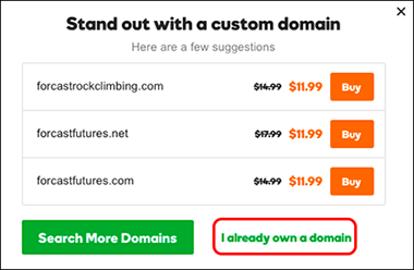click already own domain