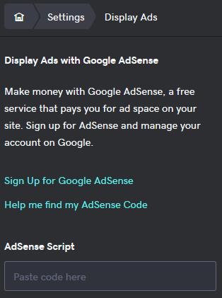 Melden Sie sich bei Google AdSense an