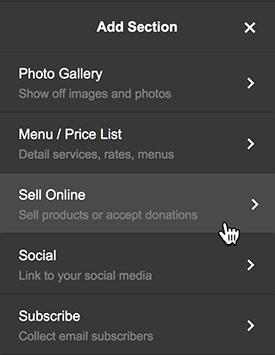 haz clic en vender en línea