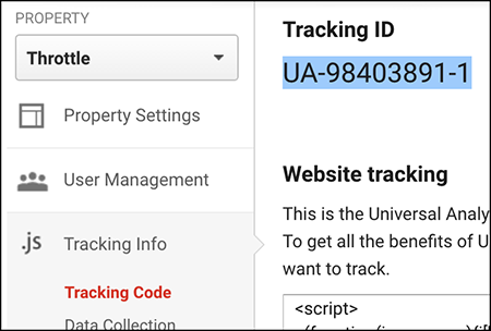 copy Tracking ID
