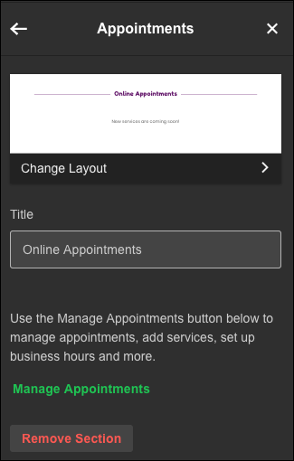 click-manage appointments