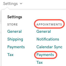 From the Dashboard, go to Appointments then Payments.