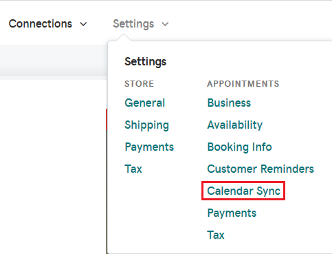 Location for Calendar Sync.