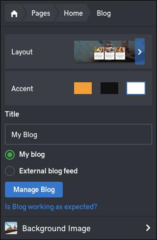 κάντε κλικ στη διαχείριση blog