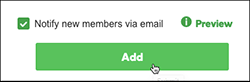 select checkbox, then clickadd