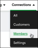 sélectionner les membres-connexions