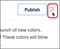 Click button next to Publish