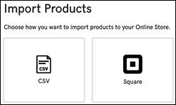 klik på Square