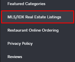 MLS/IDX section