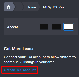 Create IDX Account