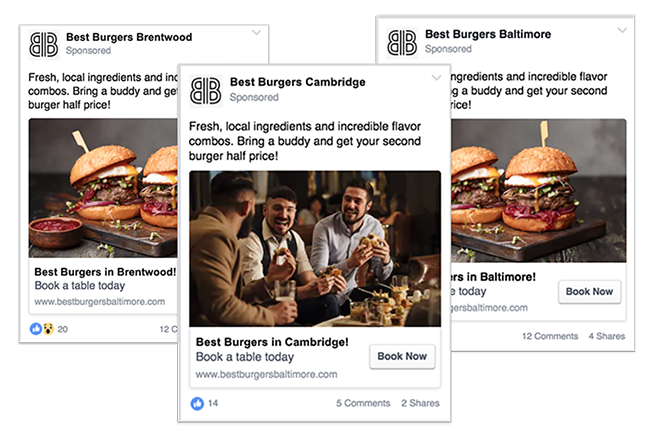 What Facebook ads look like as inspiration to create your own