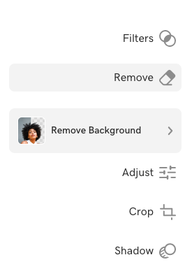 Screenshot of what the Remove feature looks like in Content Creator