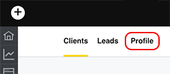 select profile tab
