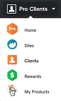In the Pro Clients menu, click Rewards