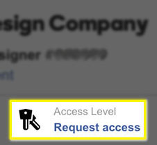 Click Request Access to email the client
