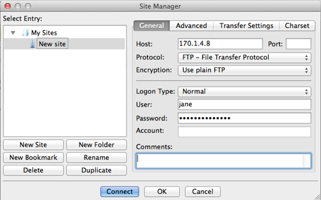 FileZilla-TLS-Einstellungen