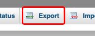 haz clic en la pestaña exportar