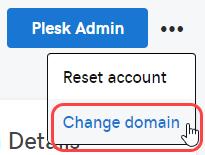 cambiar dominio plesk
