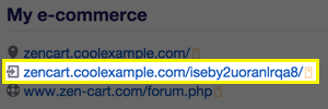 admin URL location