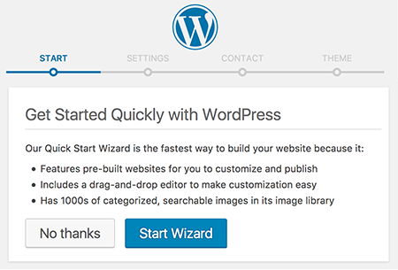 WordPress Quick Start Wizard